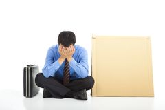 Frustrated businessman royalty free stock image