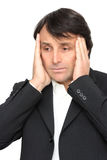 Frustrated businessman Stock Images