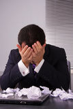 Frustrated businessman Royalty Free Stock Photos