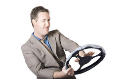 Frustrated Businessman Driving Royalty Free Stock Images