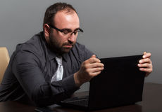 Frustrated businessman Royalty Free Stock Images