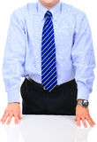 Frustrated businessman on a meeting Stock Photo