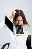 Frustrated businesswoman Stock Photography