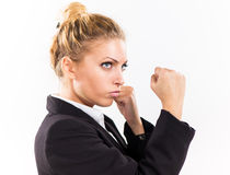 Frustrated Businesswoman Royalty Free Stock Photos