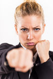 Frustrated Businesswoman Stock Image