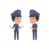 Frustrated Character Constabulary can not help to solve the prob Stock Image