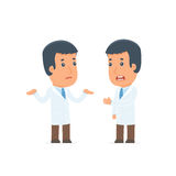 Frustrated Character Doctor can not help to solve the problem Royalty Free Stock Images
