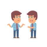 Frustrated Character Freelancer can not help to solve the problem Royalty Free Stock Image