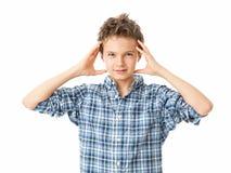 Frustrated Charming Teenage Boy Stock Photos