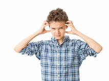 Frustrated Charming Teenage Boy Royalty Free Stock Images