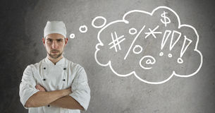 Frustrated chef Stock Photos
