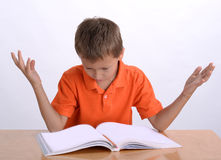 Frustrated child. With learning difficulties Stock Photo