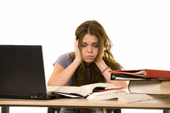 Frustrated college student Stock Photo