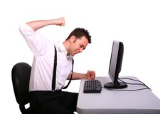 Frustrated Computer Operator Stock Image