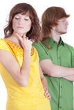 Frustrated couple Stock Images
