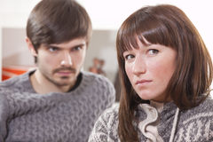 Frustrated couple Stock Photography