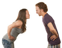Frustrated Couple Arguing Stock Image