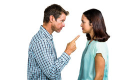 Frustrated couple arguing with each other Royalty Free Stock Photo