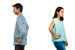 Frustrated couple ignoring each other Stock Photo