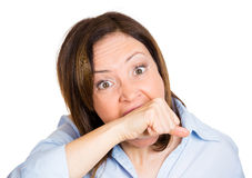 A frustrated crazy woman Royalty Free Stock Photo