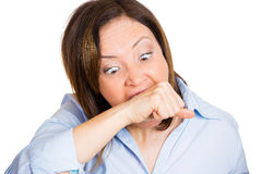 A frustrated crazy woman Royalty Free Stock Image