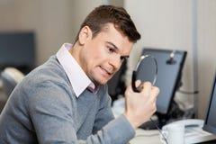 Frustrated Customer Service Representative Holding stock photos
