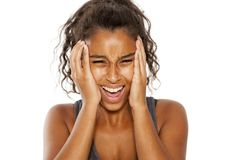 Frustrated woman stock images