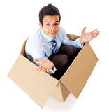 Frustrated delivery Royalty Free Stock Images