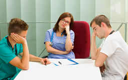 Frustrated doctors Stock Photos