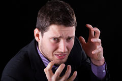 Frustrated elegant man Royalty Free Stock Photography