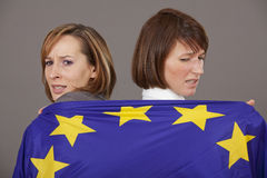 Frustrated european citizens Royalty Free Stock Photography
