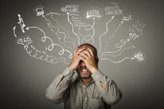 Frustrated. Expressions, feelings and moods. Life passions Stock Images