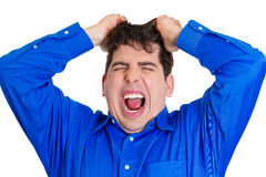 Frustrated fat man Royalty Free Stock Images