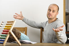 Frustrated father Royalty Free Stock Photo