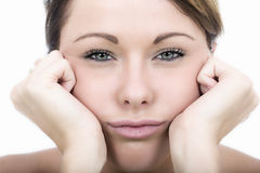 Frustrated Fed Up Bored Young Woman Royalty Free Stock Photo