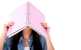 Frustrated female student Stock Image