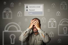 Frustrated. Forgot password concept. Stock Photos