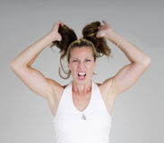 Frustrated housewife Royalty Free Stock Photography
