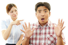 Frustrated husband and wife Stock Photography