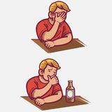 Frustrated. Illustration of a man frustrated stock illustration