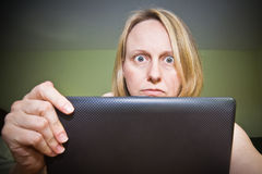 Frustrated With Laptop Computer Stock Photo