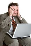 Frustrated Laptop Man Royalty Free Stock Photo