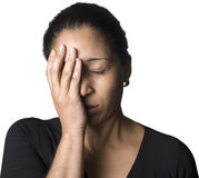 Frustrated Latino woman Stock Images