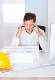 Frustrated Male Architect Stock Photos