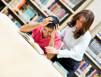 Frustrated male student Stock Photography