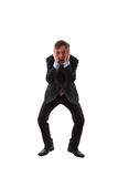 Frustrated man. Full-lenght photograph of frustrated man Royalty Free Stock Image