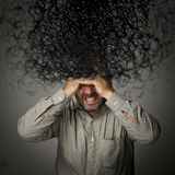 Frustrated. Man and chaos. Stock Image