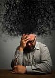 Frustrated. Man and chaos. Royalty Free Stock Images