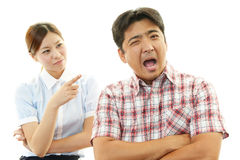Frustrated man and woman Stock Image