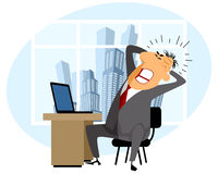 Frustrated man at work. Vector illustration of a frustrated man at work vector illustration